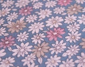 Japanese Kimono Fabric - Pretty Petals on Blue