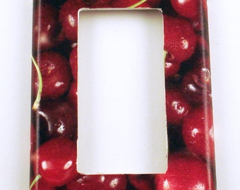 Light Switch Cover  Switchplate  Rocker Wall Decor  Light Switch Plate  in Cherries Jubilee (250R)