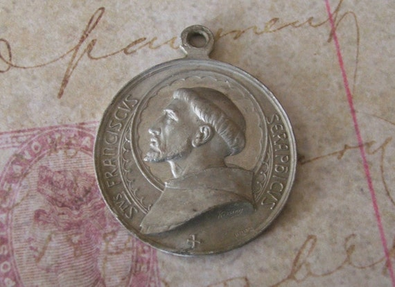 Large Commemorative Aluminum St. Francis Medal Dated 1226 -1926 Souvenir Of The Seventh Centenary Of His Death