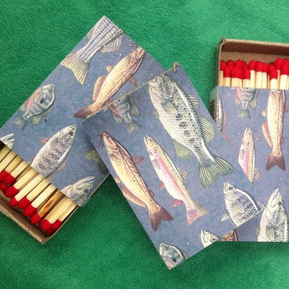 10 Going Fishing Matchboxes - Bachelor Party - Boat - Yacht - Marlin -