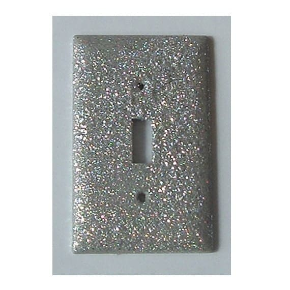 3 White Glitter Switchplates - Custom Order