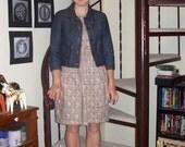 Vintage pastel floral and paisley babydoll dress - small/medium