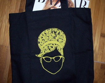 FutureLint beehive hairdo and beard of bees tote bag - black