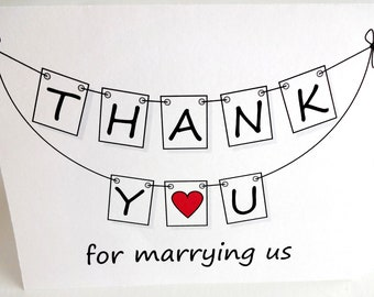 Wedding Officiant - Minister Thank You Card