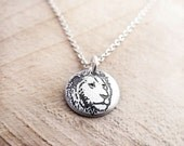 Tiny lion necklace, silver lion jewelry, leo necklace, leo jewelry