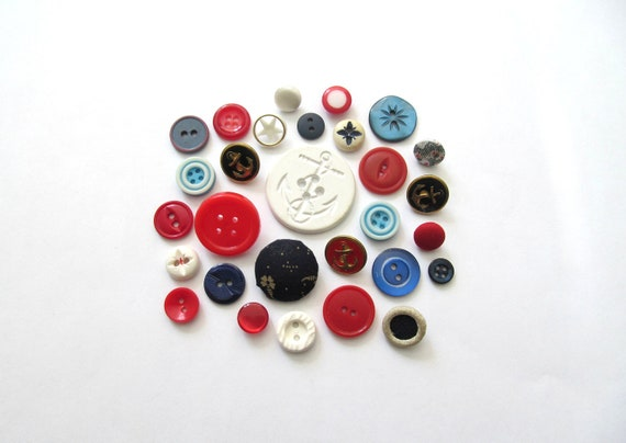 Born In The USA Vintage Buttons