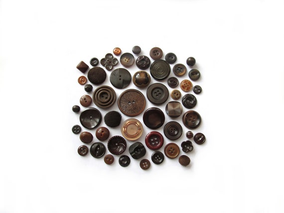Hip Brown Vintage Buttons