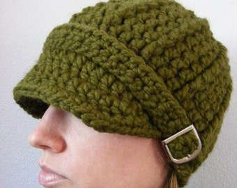 Womans Hat Womans Beanie Womans Cap Olive Green Hat Olive Hat Green Beanie Olive Beanie Green Cap Olive Cap Crochet Winter Hat Trendy
