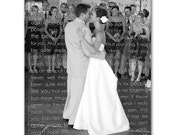 Personalized Gift Photo Canvas Text use Wedding Vows Lyrics Custom Music Personalized Art Typography and Photo on Canvas 12x16