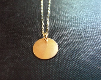 Simple Gold Drop Necklace in Gold Filled