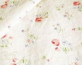 Yuwa Flower field Cotton Linen Slub Fabric (Off White)(0.5 yard)