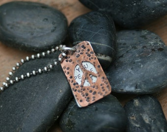 Peace Within You Window Necklace