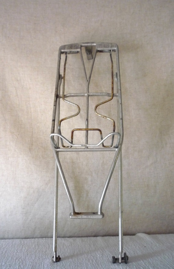 Vintage Bicycle / Bike Rear Wheel  Luggage / Carry Rack, Retro Spring Loded Bike Carrier