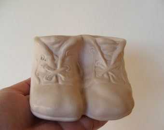 Vintage Baby Booties Planter
