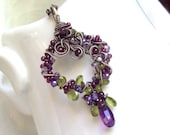 The Vineyard Amethyst, Vesuvianite, Peridot, Garnets  Necklace