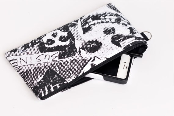 Black and white Misfits Clutch Wallet