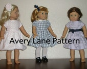 Sabrina Dress Boutique 18 inch doll clothes Pattern  Avery Lane Designs  PDF Pattern instant download