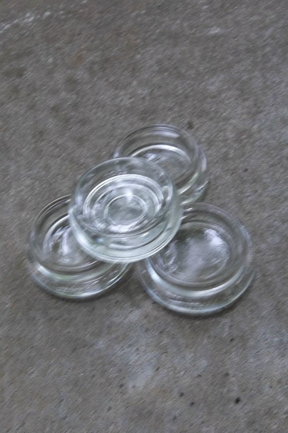 Vintage Furniture Casters Hazel Atlas Glass Casters Coasters Mid Century Modern Farmhouse Cottage Chic Shabby French Country