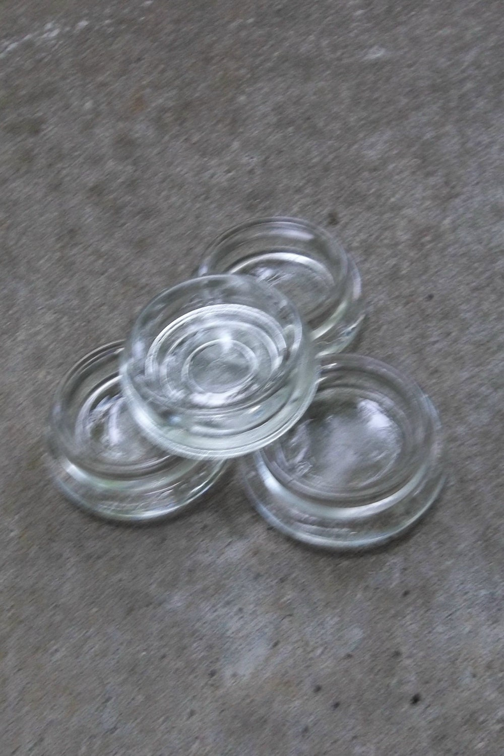 Vintage Furniture Casters Hazel Atlas Glass Casters Coasters