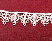 3 YDS White Lace with Iridescent Sequins and Beads