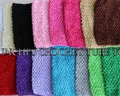"""2 Pieces / TOPS XL Large 9"""" Crochet Waffle tube tops - Colors listed ONLY"""