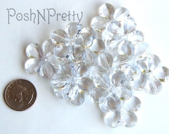 Dozen Flower beads 1 inch - 12 pieces