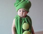 Kids Costume Childrens Costume Halloween Costume Pea Costume  Pea Pod