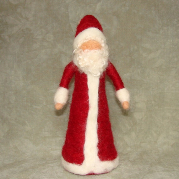 Needle Felted Santa Claus Doll / Ornament.