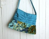 Handbag Handmade Purse in Vintage Blue Floral