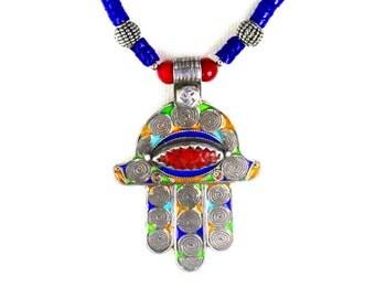 Moroccan Life Spiral Hamsa, Evil Eye & Longevity Beads