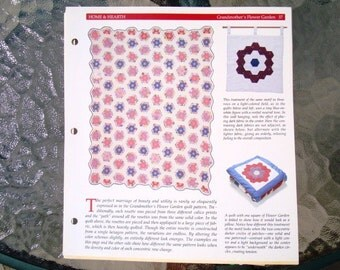 Grandmother's Flower Garden Rosette Quilt Pattern - for Table Runner, Placemat, Pillow, Quilt, etc.