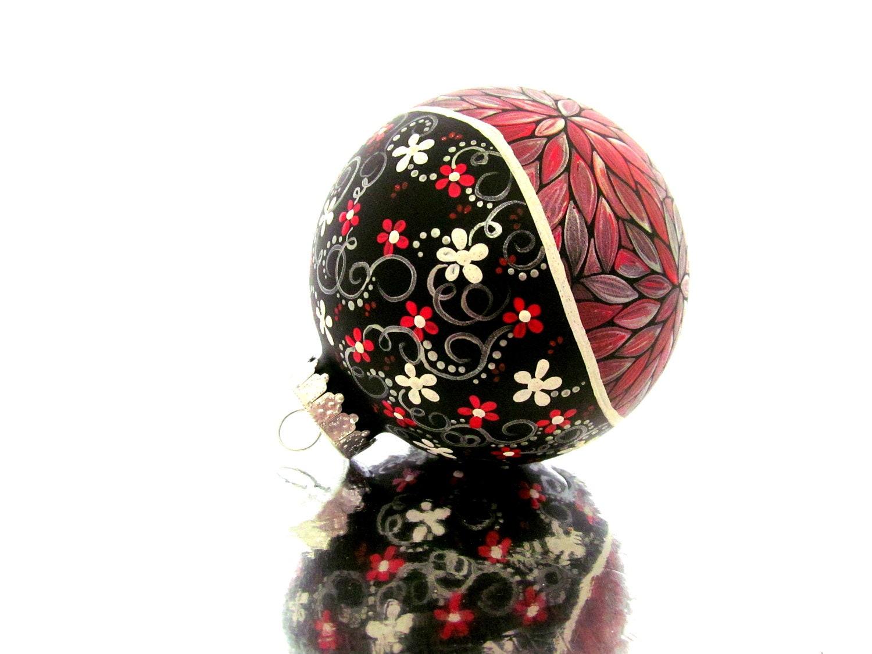 Strange Hand Painted Tree Ornament Crafthubs Easy Diy Christmas Decorations Tissureus
