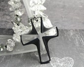 Crystal Cross Rear View Mirror Suncatcher