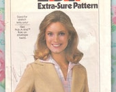 "Vintage Sewing Pattern 1970's Ladies Blazer Simplicity 8445 Never Used FF 36 38 40"" Bust"
