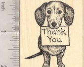 Dog Thank You Rubber Stamp H19505 Wood Mounted