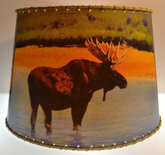Med Adirondack Moose Deer Bear Lamp Shade