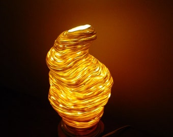 organic beehive translucent handbuilt ceramic  lamp-CUSTOM ORDER