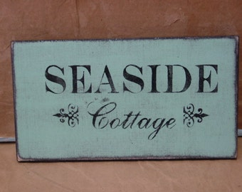CLOSE OUT PRICED/ Discontinued sign /  Seaside Cottage sign / beach cottage sign / beach sign / beach house sign / hand painted sign / beach