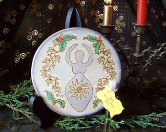 Ready to Ship Yule Altar Tile The Goddess and Sun