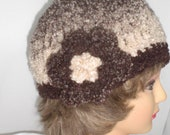 Ombre Brown Flower Hat reserved for Donene...