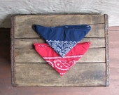 pair of vintage 1980s American-made bandanas