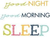 Good Night, Good Morning Fabric Label
