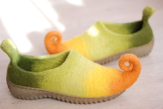 Rubber soles for Felted shoes color beige