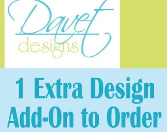 Additional design added to custom sticker orders