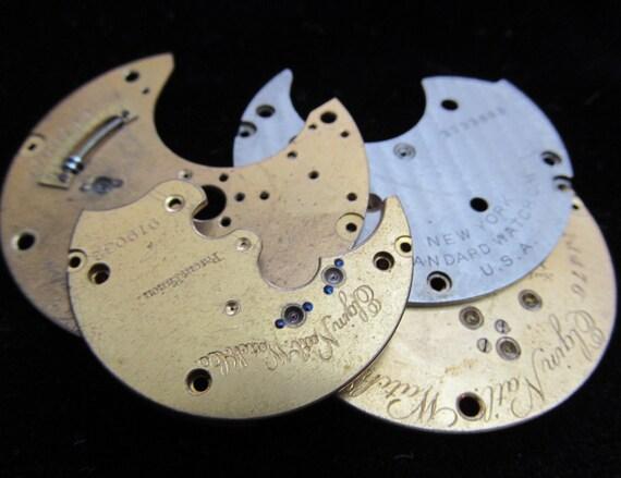 Steampunk Watch Destash Clock Parts Plates Movements FP 79