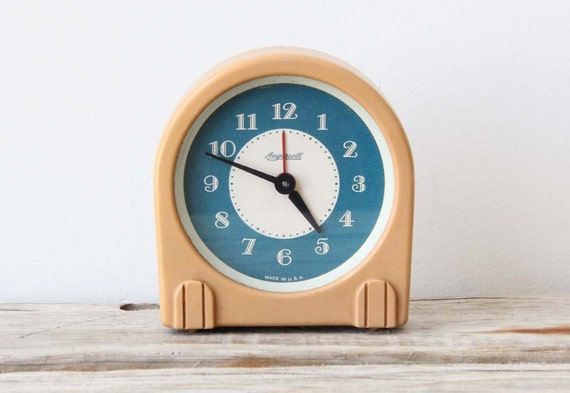 Ingersoll Art Deco Celluloid Table Clock