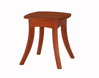 Fluidity solid cherry side table Solid Wood Handmade Organic Finish Contemporary modern design