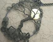Harvest Moon Wire Tree Pendant