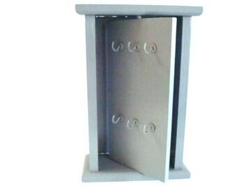 Painted Upcycled  Slate Grey Wooden Key Holder