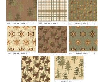 Back Country Fabric by Riley Blake - 1/2 Yard Bundle - Sale - Almost Gone